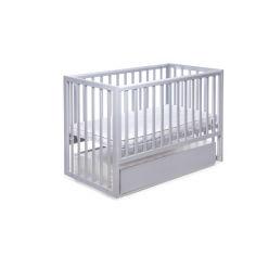 Акция на Кроватка DeSon Charivne с ящиком для новорожденных и до 5 лет серая от Allo UA