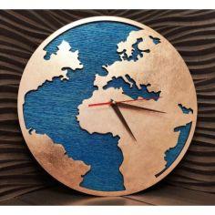 Акция на Настенные часы с ефектом бронзы в стиле Лофт деревянные 40 см (02194193-De) от Allo UA
