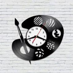 """Акция на Настенные часы из винила """"Краски"""" (5454541345-Т) от Allo UA"""