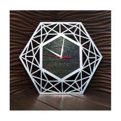 Акция на Настенные часы ручной работы с ефектом серебра 30 см (1238492-De) от Allo UA