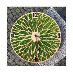 Акция на Настенные часы ручной работы с искусственным мхом 35 см (127462488-De) от Allo UA