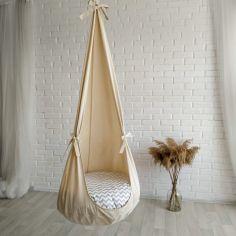 Акция на Кресло кокон из ткани ручной работы для детей (33850386-De) от Allo UA