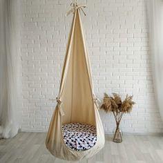 Акция на Кресло кокон из ткани ручной работы для детей (31850386-De) от Allo UA