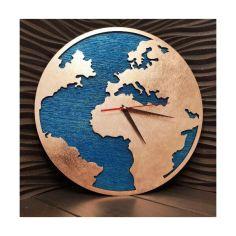 Акция на Настенные часы с ефектом бронзы в стиле Лофт деревянные 30 см (08194193-De) от Allo UA
