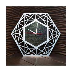 Акция на Настенные часы ручной работы с ефектом серебра 40 см (0238492-De) от Allo UA