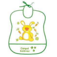 Акция на Слюнявчик на завязках Canpol Babies Зайчик 2/919 зеленый от Auchan