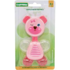Акция на Погремушка детская Baby Team Мишка розовый от Auchan