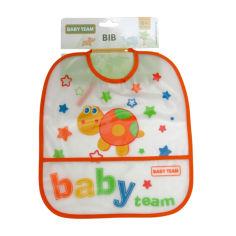 Акция на Нагрудник Baby Team Черепашка, влагонепроницаемый от Auchan