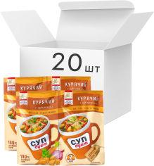 Акция на Упаковка супа Lugo Venko Дуэт Куриный с гренками 2 порции 20 г х 20 шт (1585550000565) от Rozetka