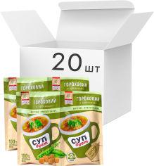 Акция на Упаковка супа Lugo Venko Дуэт Гороховый с гренками 2 порции 20 г х 20 шт (5874410000527) от Rozetka