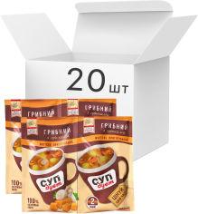 Акция на Упаковка супа Lugo Venko Дуэт Грибной с гренками 2 порции 20 г х 20 шт (9754200000558) от Rozetka