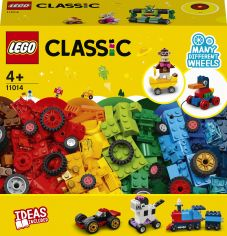 Акция на Конструктор LEGO Classic Кубики и колёса 653 детали (11014) от Rozetka