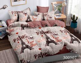 Акция на Постельное белье Люблю Париж сатин Selena 300507 Семейный комплект от Podushka