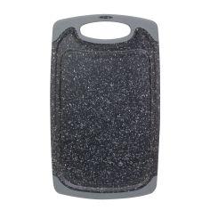 Акция на Доска разделочная Kamille 14.5x25x0.8см пластиковая 10057A серый мрамор от Podushka