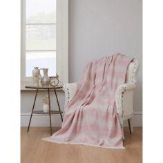 Акция на Плед-накидка Eponj Home - Denizli Kareli 190*220 a.pembe светло-розовый (svt-2000022283151) от Allo UA