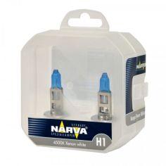 Акция на H1 12V 55W 4500К авто лампа NARVA оригинал! (цена за комплект) Ярко белый. RANGE POWER WHITE от Allo UA