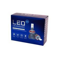 Акция на LED лампы H3 52W 12V 8400Lm 5000K С обманками! (Корея диоды Latiz) Супер яркие! Светодиодные авто лампы F1X от Allo UA