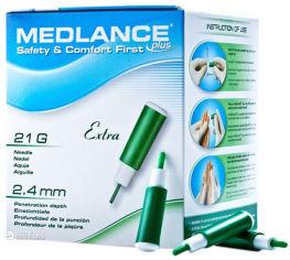 Акция на Ланцет MEDLANCE PLUS Extra 200 Green (5907506237129) от Rozetka