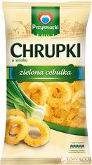 Упаковка кукурузных снеков Przysnacki со вкусом зеленого лука 150 г х 14 шт (5900073100292) от Rozetka