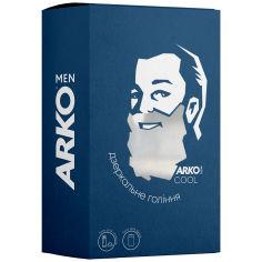 Акция на Подарочный набор Arko Men Cool Гель для бритья+Гель для душа 2в1, 200/260 мл от Auchan