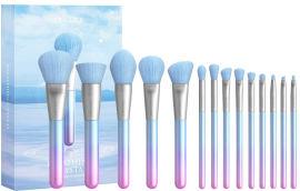 Акция на Набор кистей для макияжа Docolor Breathing Crystal T1407 14 шт (6902000140776) от Rozetka