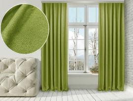 Акция на Комплект штор Di&Di Лен-Димаут 250х250 2 шт Желто-зеленых (ROZ6400060693) от Rozetka