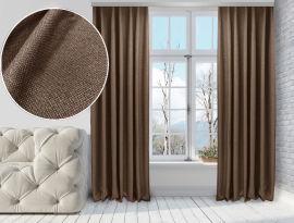 Акция на Комплект штор Di&Di Лен-Димаут 250х260 2 шт Светло-коричневых (ROZ6400060735) от Rozetka