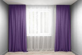Акция на Комплект штор Декорин Микровелюр 150x265 см Фиолетовых 2 шт (ROZ6400055826) от Rozetka