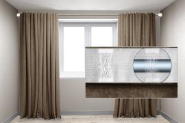 Акция на Комплект штор на трубу Декор-Ин Микровелюр 150x255 2 штуки Капучино (ROZ6400060420) от Rozetka