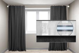 Акция на Комплект штор на трубу Декор-Ин Микровелюр 250x270 2 штуки Темно-серые (ROZ6400060353) от Rozetka