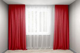 Акция на Комплект штор Декорин Микровелюр 150x275 см Красных 2 шт (ROZ6400055632) от Rozetka