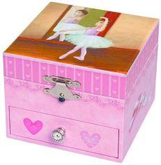 Акция на Музыкальная шкатулка Танцовщица Ин Туту, розовый цвет, фигурка балерины, Trousselier от Stylus