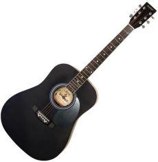 Акция на Акустическая гитара Maxtone WGC4010 (BK) от Stylus