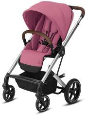 Акция на Прогулочная коляска Cybex Balios S Lux Slv Magnolia Pink purple, с бампером, розовый (520001245) от Stylus