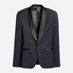 Акция на Пиджак H&M 5167786-AAVJ 50 Темно-синий с черным (DD3000002017416) от Rozetka