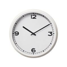 Акция на Часы настенный IKEA PUGG 25 см белые 203.578.81 от Allo UA