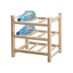 Акция на Подставка для 9 бутылок IKEA HUTTEN массив дерева 700.324.51 от Allo UA