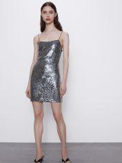 Акция на Платье Zara 1131/413/808-ACXA S Серебристое (DD3000003244347) от Rozetka