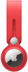 Акция на Apple Holder Leather Loop (PRODUCT) Red for AirTag (MK0V3) от Stylus