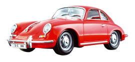 Акция на Автомодель Bburago Porshe 356B 1961 красный 1:24 (18-22079 red) от Будинок іграшок