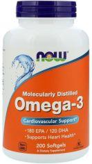 Акция на Now Foods Omega-3 Molecularly Distilled Softgels 200 caps от Stylus