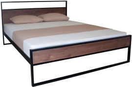 Акция на Двуспальная кровать Eagle Amelia 140 x 200 Black (Е2370) от Rozetka