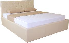 Акция на Двуспальная кровать Eagle Briz Lift 160 x 200 Beige (E2448) от Rozetka