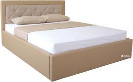Акция на Двуспальная кровать Eagle Irma Lift 160 x 200 Beige (E2417) от Rozetka