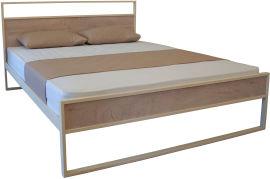 Акция на Двуспальная кровать Eagle Amelia 140 x 200 Beige (Е2387) от Rozetka