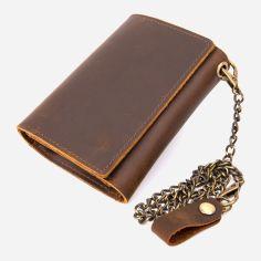 Акция на Мужское портмоне кожаное Vintage Коричневое (leather-20439) от Rozetka