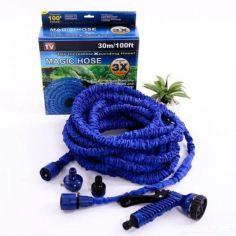 Акция на Компактный садовый шланг X-HOSE для полива с водораспылителем 30m, гибкий поливочный шланг Икс Хоз от Allo UA