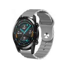 Акция на Ремешок для Mobvoi TicWatch Pro 3   Huawei Watch GT 2 46mm   GT 2 Pro/Е силиконовый 22мм Wave Серый BeWatch (1020704) от Allo UA