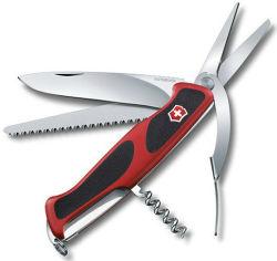 Акция на Victorinox RangerGrip 71 Gardener 130мм/7предметов/красный-черный (0.9713.C) от Stylus