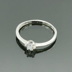 Акция на Серебряное кольцо с фианитом 16,5 р 024арт от Allo UA